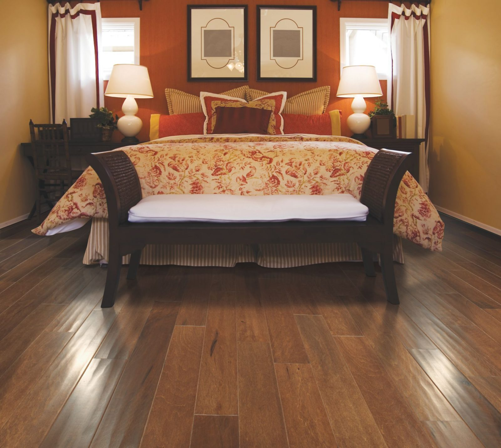 Hardwood flooring of bedroom | Raby Home Solutions