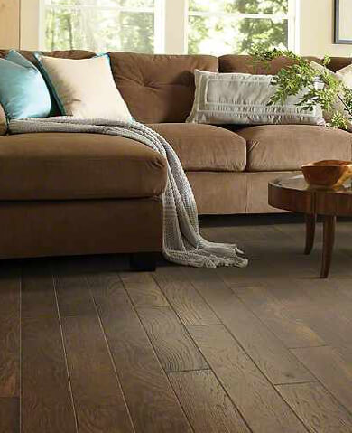 Sofa on Hardwood floor | Raby Home Solutions