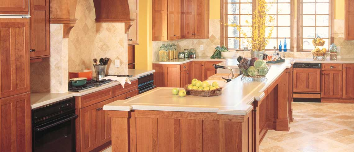 Lancaster door style in Cherry finished in Harvest | Raby Home Solutions