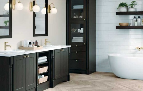 black bathroom cabinets | Raby Home Solutions