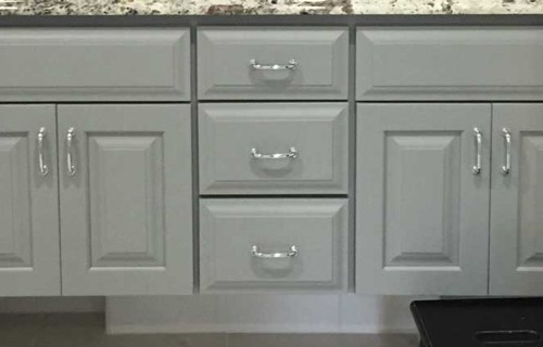 grey bathroom cabinets | Raby Home Solutions