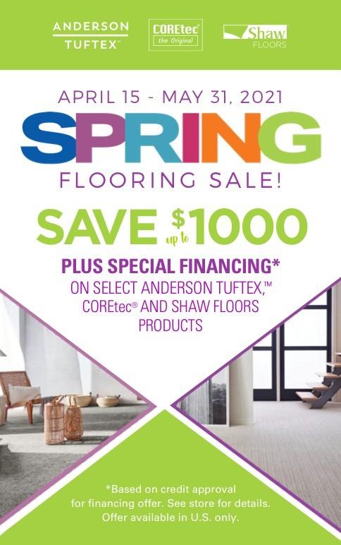 spring sale rebate
